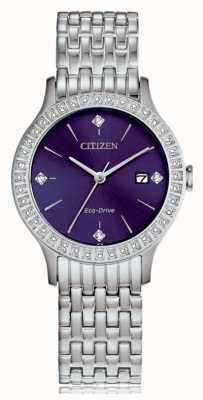 Citizen Cassa in cristallo eco-drive da donna FE1200-51L