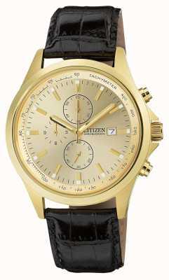 Citizen Cronografo al quarzo placcato oro AN3512-03P