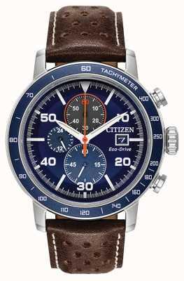 Citizen Cinturino in pelle cronografo Brycen eco-drive CA0648-09L