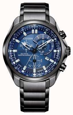Citizen Calendario uomo eco-drive perpetuo quadrante blu BL5607-54L