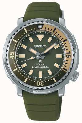 Seiko Prospex | cinturino in silicone verde | quadrante verde SUT405P1