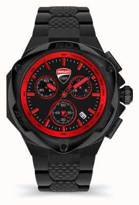 Ducati Dt002 | cronografo | quadrante nero | bracciale in acciaio pvd nero DU0065-ECHB.B01