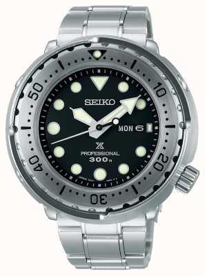 Seiko Prospex | tonno | 300m | bracciale in acciaio inossidabile | quadrante nero S23633J1