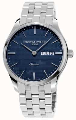 Frederique Constant Quarzo classico da uomo | bracciale in acciaio inossidabile | quadrante blu FC-225NT5B6