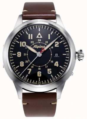 Alpina Smartimer pilot heritage ltd | cinturino in pelle marrone | quadrante blu AL-525BBG4SH6