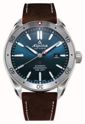 Alpina Alpiner 4 automatico uomo | cinturino in pelle marrone | quadrante blu AL-525NS5AQ6