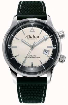 Alpina Seastrong diver heritage uomo | cinturino in silicone nero | quadrante bianco AL-525S4H6