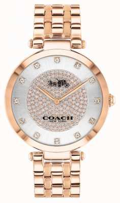 Coach Parco delle donne | bracciale in acciaio placcato oro rosa | quadrante bianco 14503735