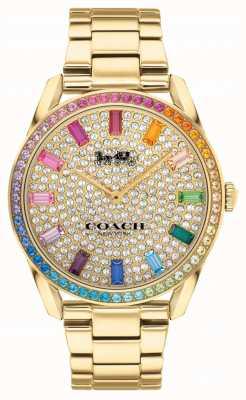 Coach Preston da donna | bracciale in acciaio placcato oro | quadrante in cristallo 14503657
