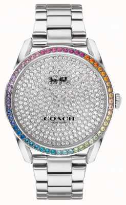 Coach Preston da donna | bracciale in acciaio inossidabile argento | quadrante in cristallo 14503658