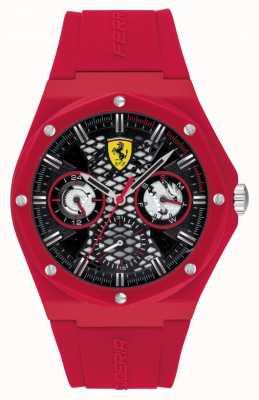 Scuderia Ferrari Aspirare | cinturino in silicone rosso | quadrante nero 0830786