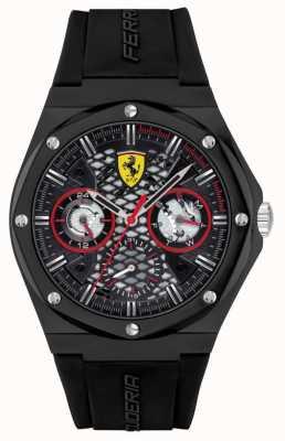 Scuderia Ferrari Aspirare | cinturino in silicone nero | quadrante nero 0830785