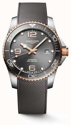 Longines Hydroconquest 41mm automatico | quadrante grigio | cinturino in caucciù grigio L37813789