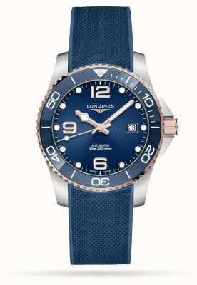 Longines Cinturino in caucciù blu automatico da 41 mm Hydroconquest L37813989