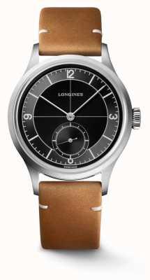 Longines Cinturino in pelle marrone classico Heritage L28284532