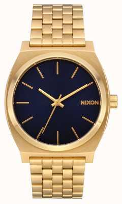 Nixon Contatore del tempo | tutto oro / indaco | braccialetto ip oro | quadrante indaco A045-2033