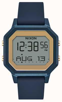 Nixon Orologio con cinturino in silicone blu navy sirena A1211-1859
