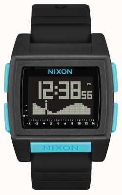 Nixon Marea di base pro | tutto nero / blu | digitale | cinturino in silicone nero A1307-602