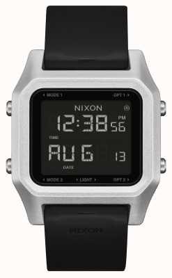 Nixon Graffetta | argento / nero | digitale | cinturino in silicone nero A1309-625