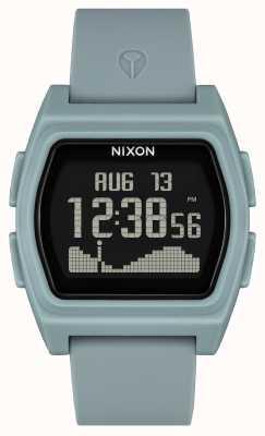 Nixon rivale | color nebbia | digitale | cinturino in silicone color nebbia A1310-5035