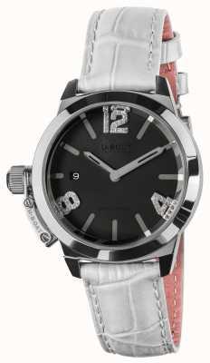 U-Boat Cinturino in pelle bianca quadrante nero Classico 38 8482