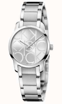 Calvin Klein Città | bracciale da donna in acciaio inossidabile | quadrante argentato K2G23142