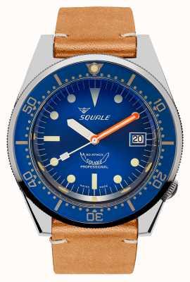 Squale Oceano | automatico | quadrante blu | cinturino in pelle vintage marrone 1521OCN.PC-CINVINTAGE