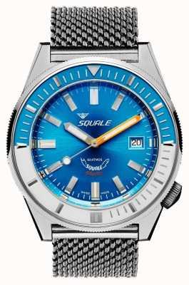 Squale Matic maglia azzurra | automatico | quadrante blu | bracciale in maglia di acciaio inossidabile MATICXSE.ME22-CINSS22