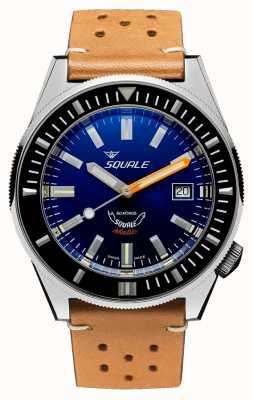 Squale Blu scuro | automatico | quadrante blu | cinturino in pelle marrone MATICXSB.PTC-CINU1565CM