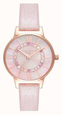 Olivia Burton Wonderland sparkle blush mop dial pearl pink & rg OB16WD93