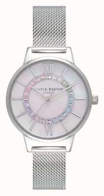 Olivia Burton Rainbow sparkle wonderland silver OB16WD96
