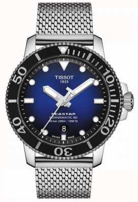 Tissot Seastar 1000   powermatic 80   quadrante blu   maglia inossidabile T1204071104102
