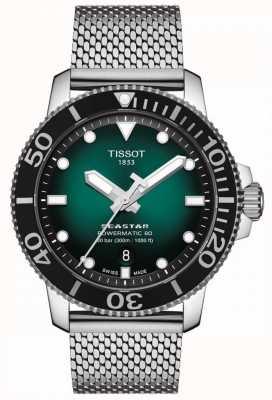 Tissot Seastar 1000 | powermatic 80 | quadrante verde | maglia inossidabile T1204071109100