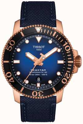 Tissot Seastar 1000   powermatic 80   quadrante blu   tessuto blu T1204073704100