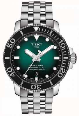 Tissot Seastar 1000 | powermatic 80 | quadrante verde | acciaio inossidabile T1204071109101