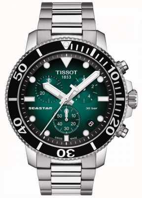Tissot Seastar 1000   cronografo   quadrante verde   acciaio inossidabile T1204171109101