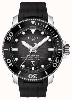Tissot Seastar 2000 pro   powermatic 80   quadrante nero   silicone T1206071744100