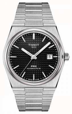 Tissot | prx 40 205 | powermatic 80 | quadrante nero | bracciale in acciaio inossidabile | T1374071105100