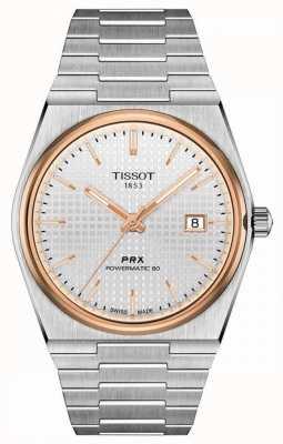 Tissot | prx 40 205 | powermatic 80 | quadrante bianco | bracciale in acciaio inossidabile | T1374072103100