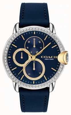 Coach Arden femminile | cinturino in pelle blu | quadrante blu 14503734