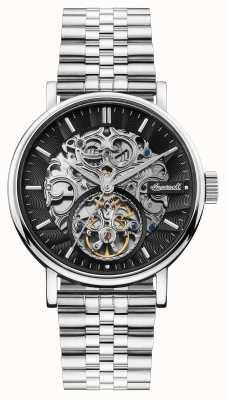 Ingersoll | il charles automatico | quadrante scheletrato nero | cinturino in acciaio I05804B