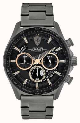 Scuderia Ferrari Pilota evo maschile | bracciale in acciaio IP grigio | quadrante nero 0830824