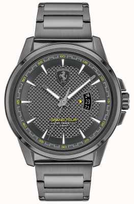 Scuderia Ferrari Gran tour maschile | bracciale in acciaio IP grigio | quadrante grigio 0830836