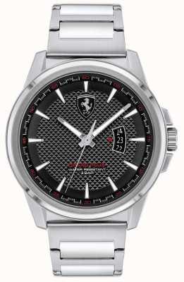 Scuderia Ferrari Gran tour maschile | bracciale in acciaio inossidabile | quadrante nero 0830834