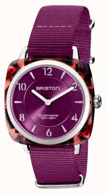 Briston Clubman chic | quadrante cardinale 36mm oro rosa | cinturino cardinale nato 21536.PRA.UR.32.NC