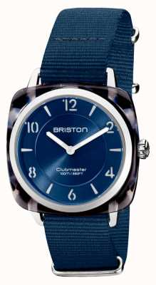 Briston Clubman chic | argento 36mm quadrante blu navy | cinturino nato blu navy 21536.SA.UB.33.NMB