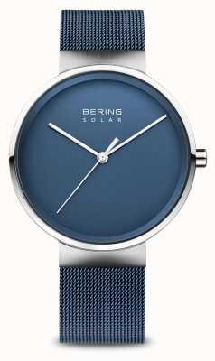 Bering Bracciale da uomo in maglia blu solare 14339-307
