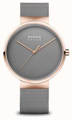 Bering Orologio solare da uomo oro rosa/grigio 14339-369