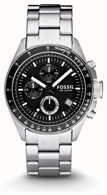 Fossil Uomo d'argento cronografo orologi di moda CH2600IE