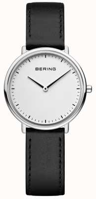 Bering Orologio da donna classico con cinturino in pelle nera 15729-404